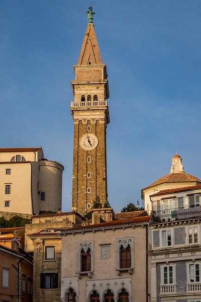 Spaziergang in Piran: Der Glockenturm