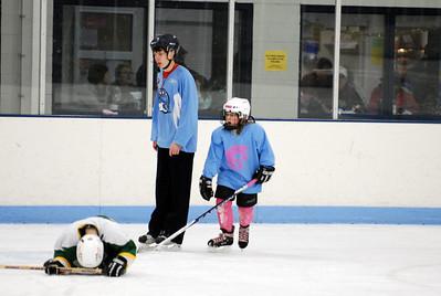 Spartan 8U Girls vs. Mite Green (Jan-16-2011)