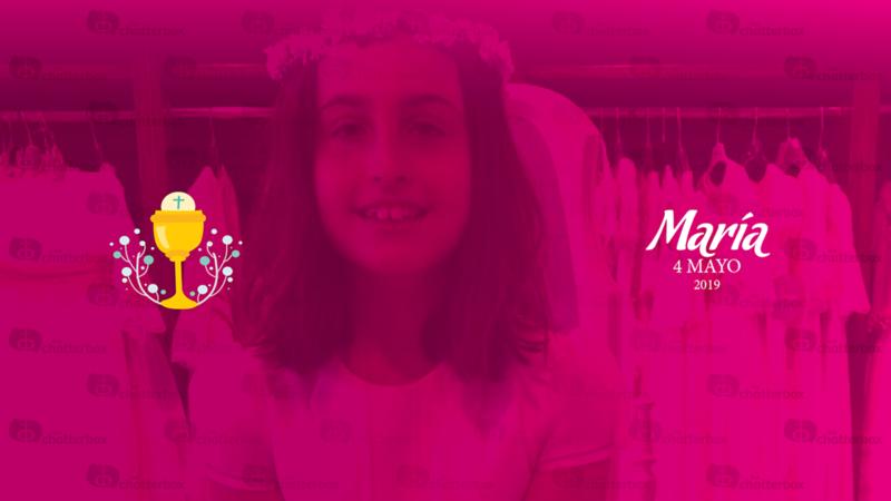 María Comunión 4 de mayo