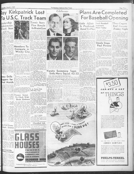 Daily Trojan, Vol. 28, No. 90, March 03, 1937