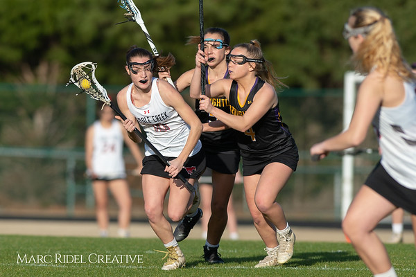 Broughton Lady Caps lacrosse at Middle Creek. February 26, 2019. D4S_1668