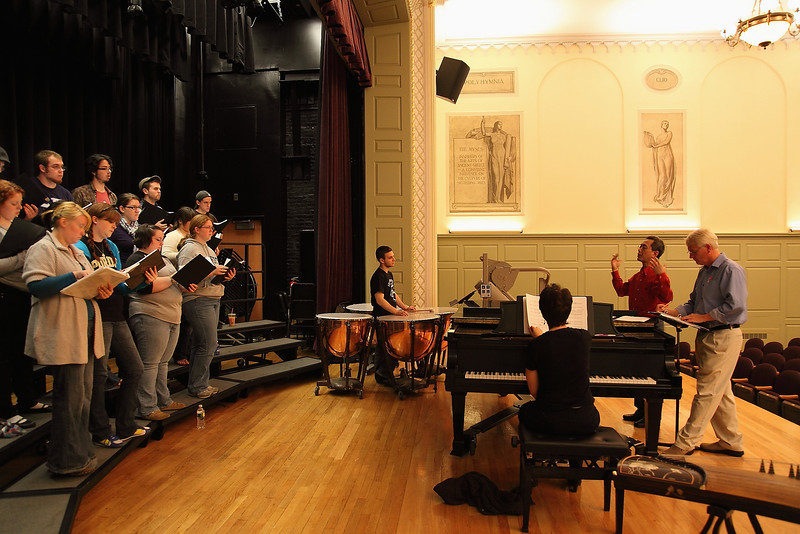 Bridgewater State College Music Concert and Rehearsal