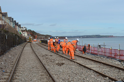 Dawlish Sea Wall Work 2014