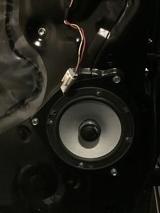 2012 Toyota Tundra Crewmax w/Entune Rear Door Speaker Installation - USA