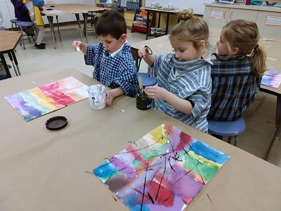 PreK - Jackson Pollock-inspired Paintings