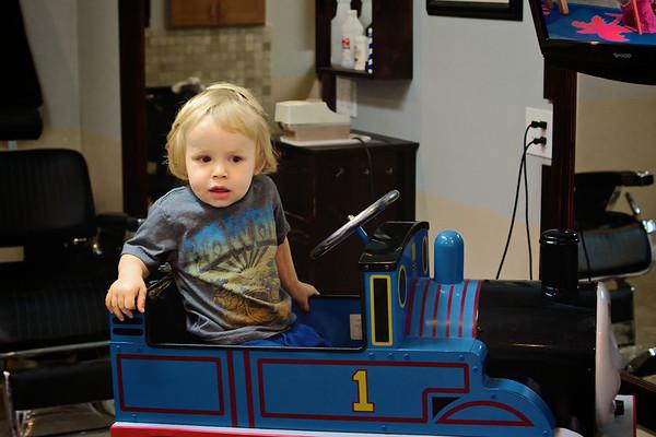 Luca's first haircut