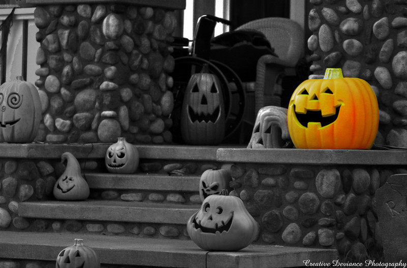 October 21, 2009  Feeling Halloweeny!  This was my first real attempt at selective coloring.