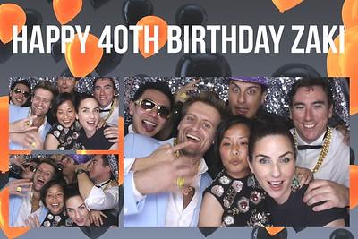 Zaki's 40th Birthday 13 Jun 2015