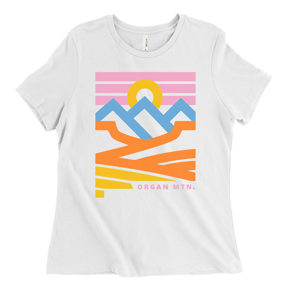 Organ Mountain Outfitters - Outdoor Apparel - Womens T-Shirt - New Mexico Landscapes Tee - White.jpg