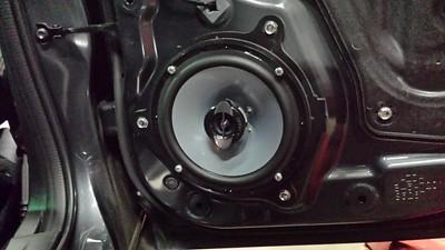 2014 Mazda 3 GT sedan Rear Door Speaker Installation - Canada