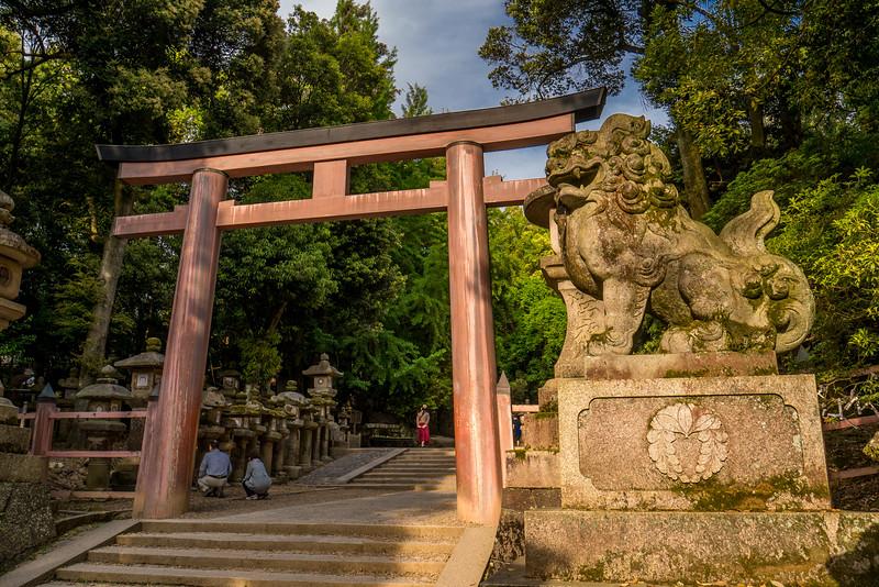 The celebrated Kasuga-taisha Shrine in Nara, Japan.