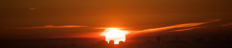 Blazing sunrise