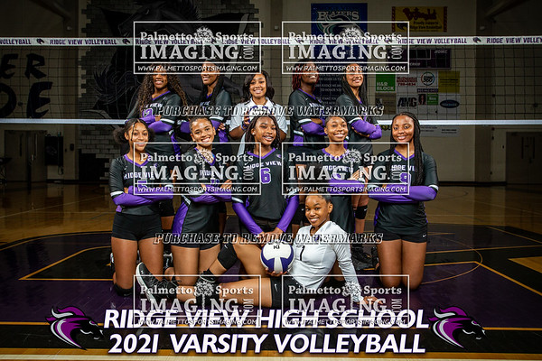 2021 Ridge View Volleyball Team and Individuals