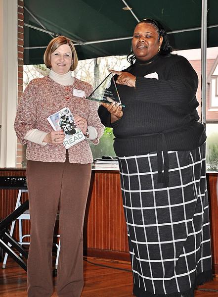 Janine Langston presents the Cotchery Foundation the Library Champion Award.jpg