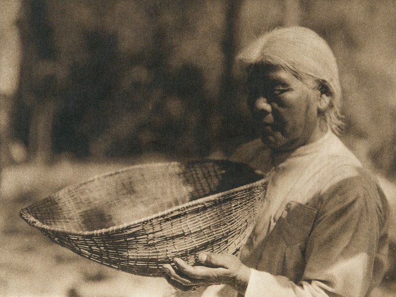 Sifting baskets - southern Miowk (The North American Indian, v. XIV. Norwood, MA, The Plimpton Press, 1924)