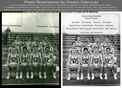 Photo Restoration -- Sierra College Basketball