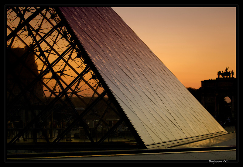 Pyramid sunset
