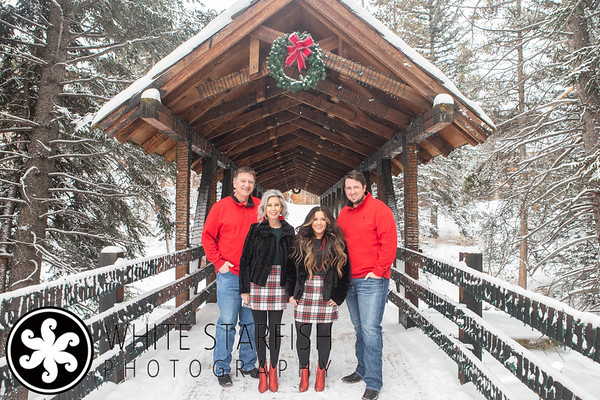 Vail Family Photos - Gore Creek Covered Bridge - Waller