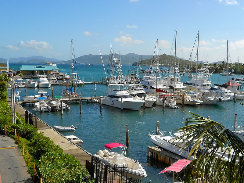 harbor in St Thomas, USVI