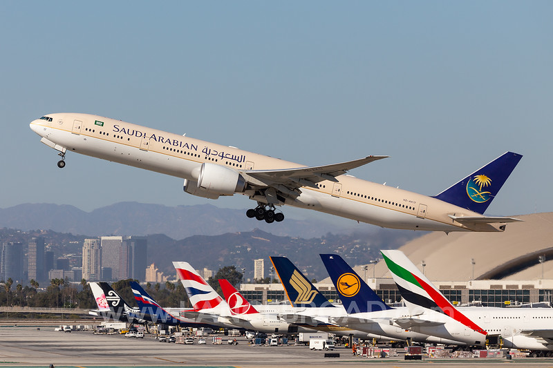 Saudi Arabian 777-300ER - HZ-AK17 - LAX