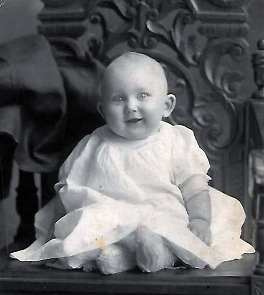 George Werts as infant circa 1914