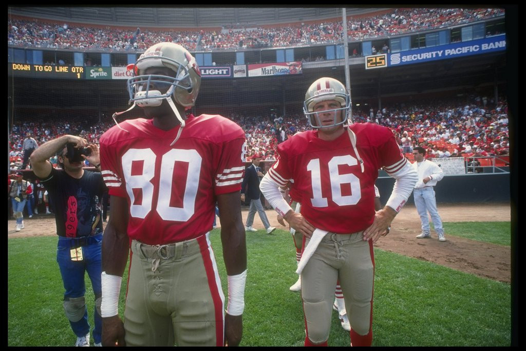 . <p><b> Falcons at 49ers (-12):</b>  <p>There won�t be a dry eye in the house Monday night for the 49ers� last regular-season game at Candlestick Park. A number of Niners greats will be on hand, and special prizes will be given out to the first 500 fans beaten up by the drunks around them. <p>Pick: <b>49ers by 14</b> <p>   (Getty Images: Otto Greule)