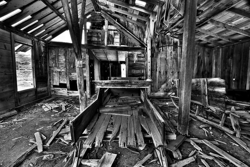 Arrested decay.  This is the  merit award winner of B&W magazine's single image 2012 contest in the architecture/interiors category .