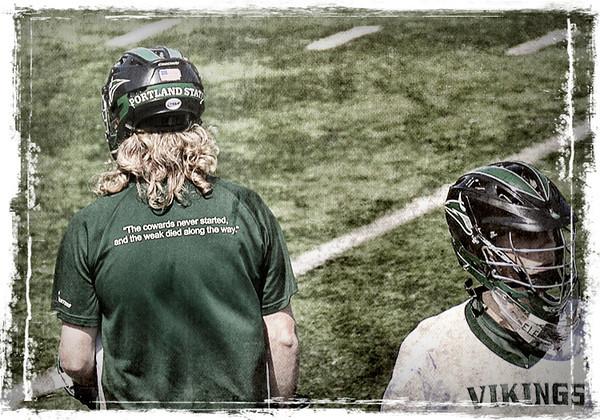0409 athletic  Members of Portland State's lacrosse team.