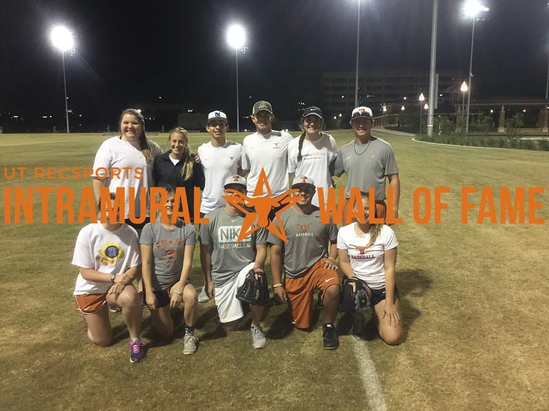 Spring 2017 Softball Coed A Runner Up_Smokin Bases