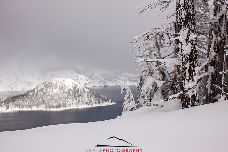 Crater Lake Oregon snow 3