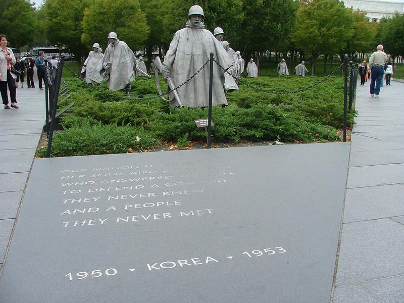 Korean War Memorial, near Lincoln Memorial, on the Mall, Washington, DC