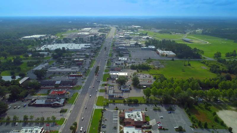 Drone footage Lake City Florida USA