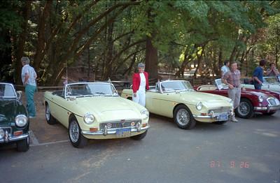 Martha and our 1969 MGC.