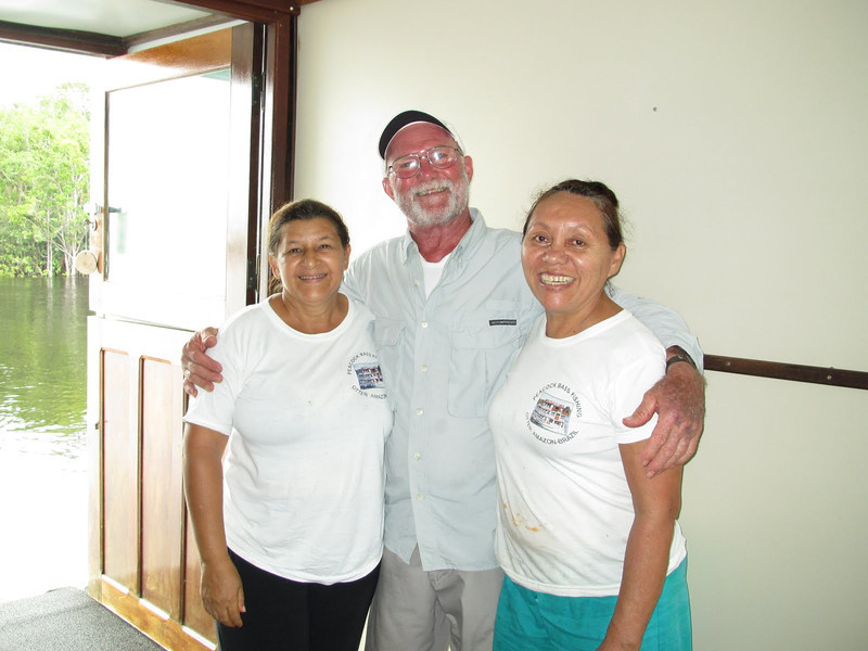 David with Flo the housekeeper and Josephina the cook