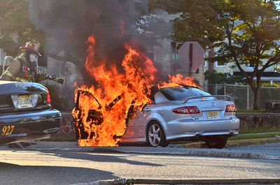 09-09-2012, MVC With Fire, Millville City, Cumberland County, Cedar St and Fulton Ave.