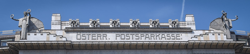Vienna: Austrian Post Office Savings Bank, upper facade, detail