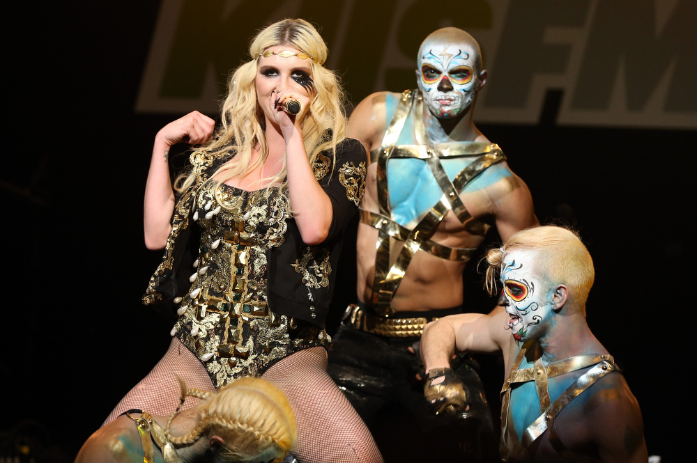Description of . Singer Kesha performs onstage during KIIS FM's 2012 Jingle Ball at Nokia Theatre L.A. Live on December 3, 2012 in Los Angeles, California.  (Photo by Christopher Polk/Getty Images for Clear Channel)