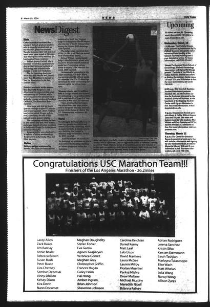 Daily Trojan, Vol. 151, No. 38, March 10, 2004