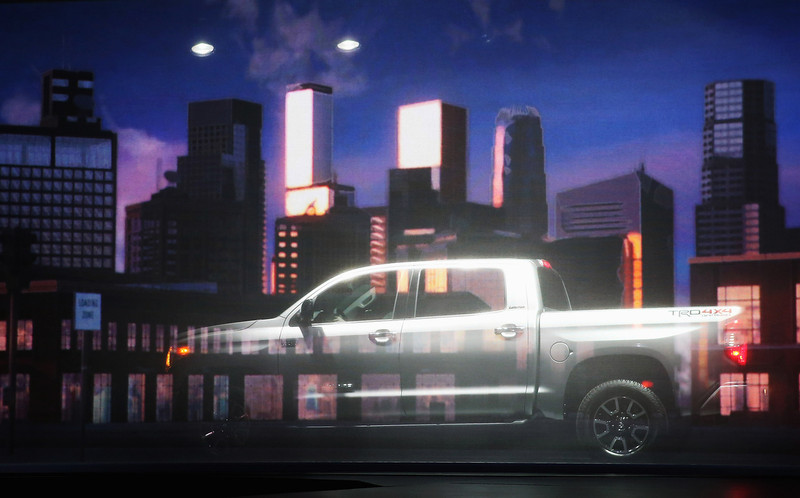 . Toyota introduces the 2014 Tundra pickup truck at the Chicago Auto Show on February 7, 2013 in Chicago, Illinois. The Chicago Auto Show, one of the oldest and largest in the country, will be open to the public February 9-18.  (Photo by Scott Olson/Getty Images)