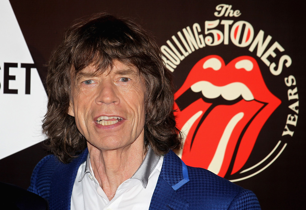 . Mick Jagger attends as The Rolling Stones celebrate their 50th anniversary with an exhibition at Somerset House on July 12, 2012 in London, England.  (Photo by Chris Jackson/Getty Images)