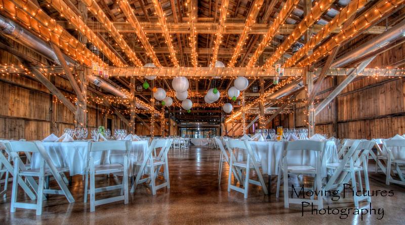 The reception venue - Talon Winery