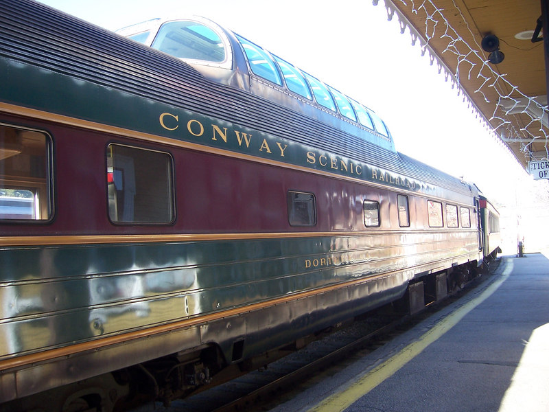 The Conway Scenic Railroad - wasn't open the day before Thanksgiving, but is a beautiful train.