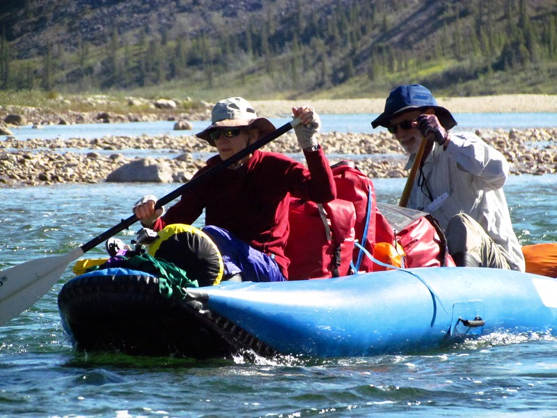 Rich & Brian are experienced Arctic river canoeists, so that helped me & Steve respectively, but Greg & Louisa had a lot to learn.