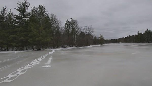 Skating French Mill Pond 2-18-2021