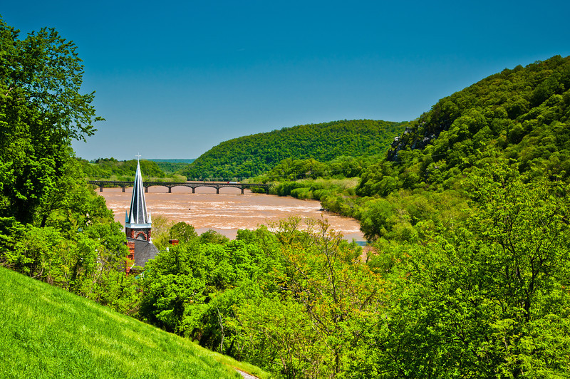 St Peter's RC Church from Jefferson Rock, Harper's Ferry WVA
