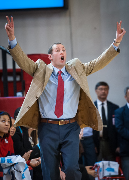 St.John's head coach Joe Tartamella