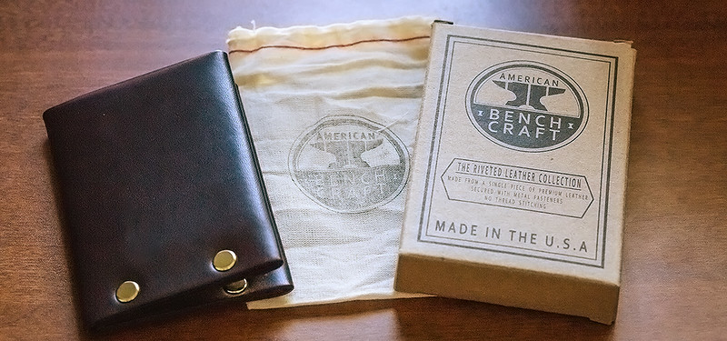 American Benchcraft Riveted Brown Leather Wallet