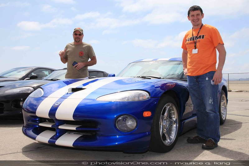 Seth (right) with the original owner (Jeff) of his car.
