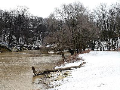 Winter scene at Cascade Park