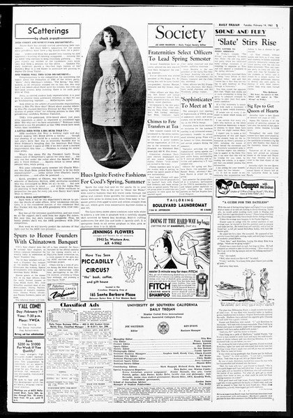 Daily Trojan, Vol. 52, No. 70, February 14, 1961